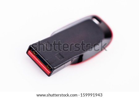 USB on white background