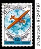 USSR - CIRCA 1978: A stamp printed in the USSR showing vintage airplane, circa 1978 - stock photo