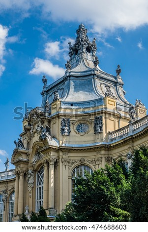 Vajdahunyad Castle was designed by Ignac Alpar to feature copies of several landmark buildings from different parts Kingdom of Hungary. It was built in 1896 as part of Millennial Exhibition. Budapest.