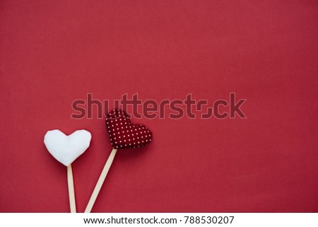 Colorful paper hearts on line gift stock photo 561774577 valentine day background with two love gift hearts negle Choice Image