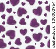 valentine seamless hearts pattern background - stock photo