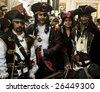 VALLETTA, MALTA - Feb 21st 2009 - Group of youths dressed up as a Pirate clan at the International Carnival of Malta 2009 - stock photo