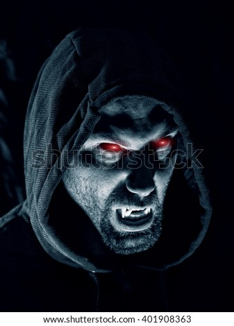 Dark Portrait Scary Evil Sinister Bearded Stock Photo ...
