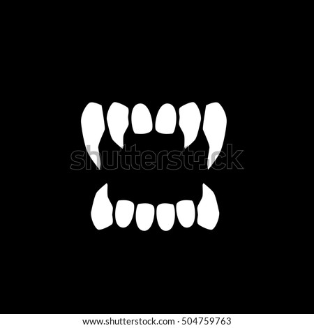 Vampires Teeth Icon Isolated On Neutral Stock Vector ...