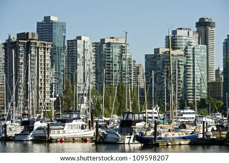 Vancouver, British Columbia, Canada. Vancouver Skyline. Canadian Cities Photo Collection.
