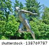 VANCOUVER - JULY 05: Harry Jerome Monument at Stanley Park on July 05, 2008 in Vancouver Canada.He set seven world records, run 100 meters in 10.0 sec. in 1960. Bronze medal in 1964 Olympic games - stock photo