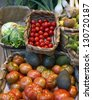 variety of vegetables in the store - stock photo