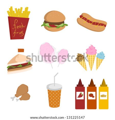 Various fast foods