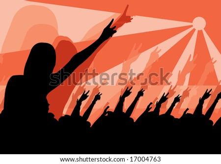 vector image of people in crowd