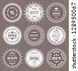 Vector set of round labels - stock vector