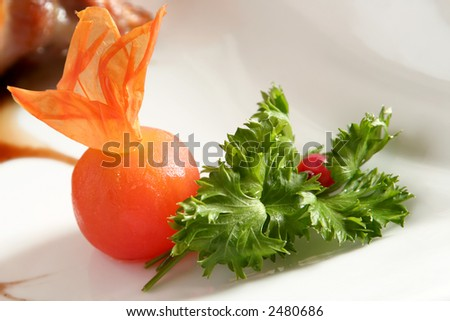 Vegetable prepared as part food detail and close-up