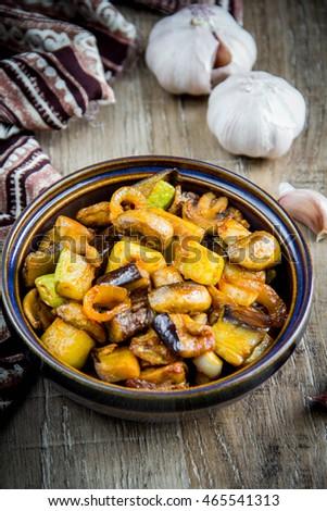 Potato Gnocchi Brown Mushrooms Stock Photo 555583051 ...