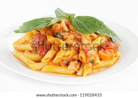 vegetarian pasta on a plate