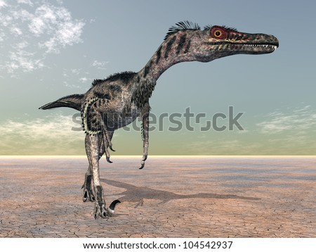 Velociraptor Computer generated 3D illustration