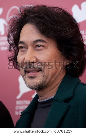 "VENICE, ITALY - SEPTEMBER 9: actor Koji Yakusho at photocall for the movie ""13 Assassins"" by Takashi Miike, at 67th Venice Film Festival September 9, 2010 in Venice, Italy."