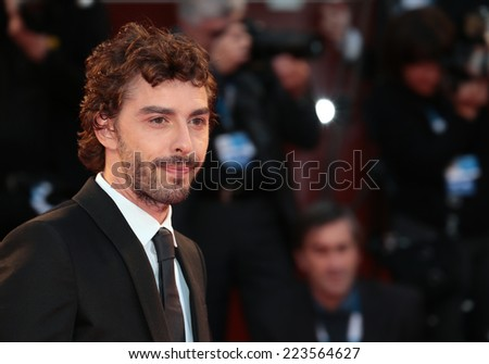 VENICE, ITALY - SEPTEMBER 01: Michele Riondino attends the 'Il Giovane Favoloso' premiere during the 71st Venice Film Festival at Sala Grande on September 01, 2014 in Venice, Italy