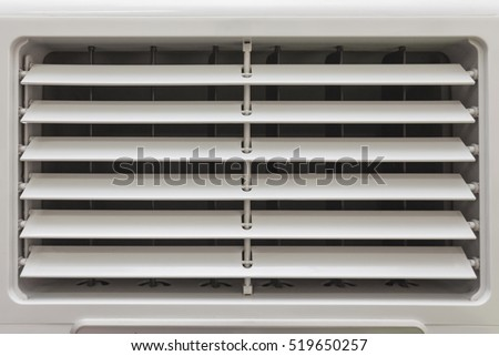 Ventilation fans for air conditioning up and down alternately.