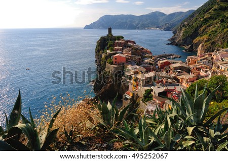 Vernazza, a small town in Liguria, Italy