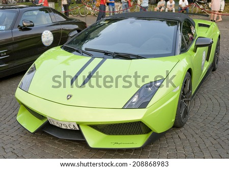 VERONA, ITALY   JULY 11: Lamborghini Gallardo On July 11, 2014 In Verona