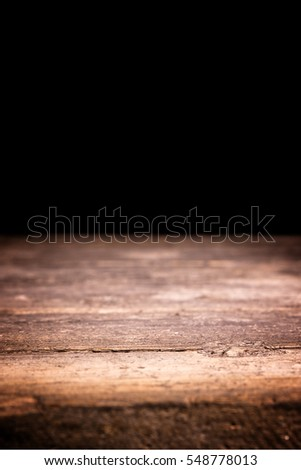 vertical background with wooden floor and copy space
