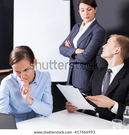Vertical view of businesspeople during business meeting