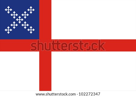 very big size episcopal church flag illustration