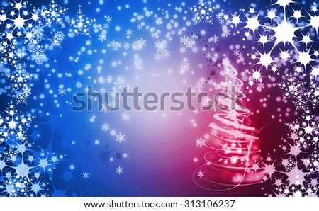 very nice christmas background with snow flakes