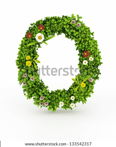 very nice floral alphabetletters made flowers stock illustration, Natural flower