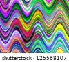 Vibrant multicolored waves illustration. - stock photo