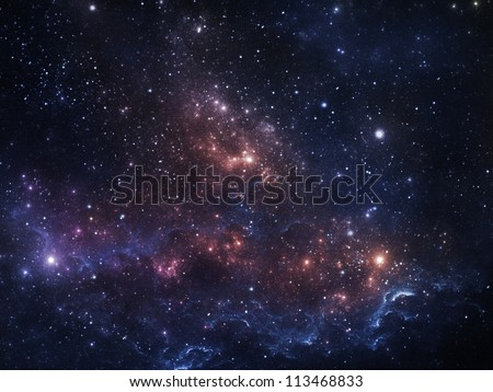 Vibrant night sky with stars and nebula