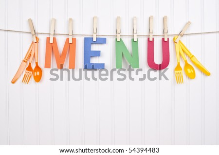 Vibrant Scene Word Menu Focus On Stock Photo 54394477 - Shutterstock
