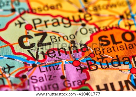 Vienna, Capital City of Austria on the World Map