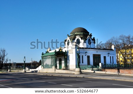 Vienna city Austria Otto Wagner Court Pavilion Hietzing train station