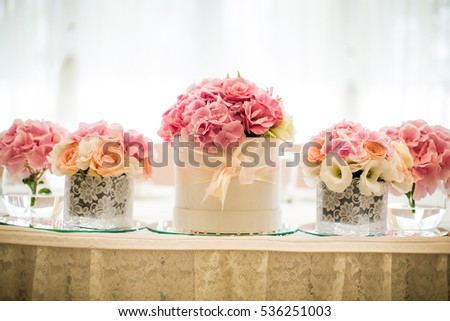View at Floral wedding decoration