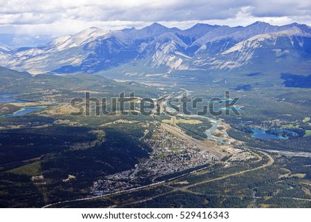 View from Jasper in Rocky Mountains (Alberta, Canada)