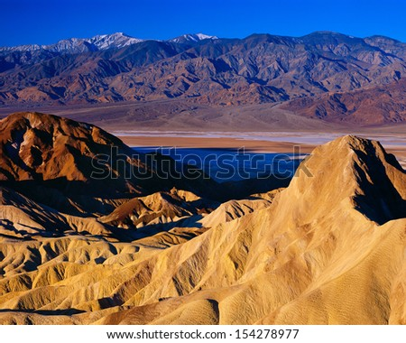 View from Zabriskie Point, Death Valley National Park, California.