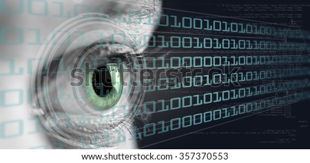 View of a high definition technology eye concept
