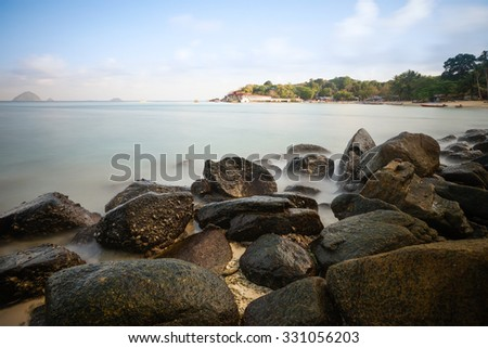 View of  beach in Perhentian island in Terengganu, Malaysia on March, 24 2014. Perhentian island is the one of tourist attraction in Malaysia.
