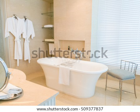 View of beautiful and elegant bathroom