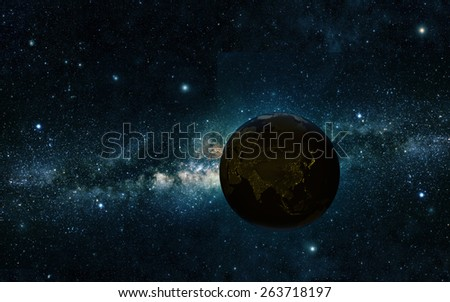 view of earth from space Elements of this image furnished by NASA