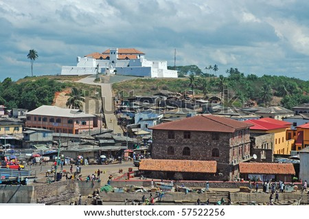 stock photo view of fort st jago from elmina castle in ghana 57522256 George Emil Eminsang Biography & History