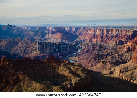 View of Grand Canyon from the South Rim