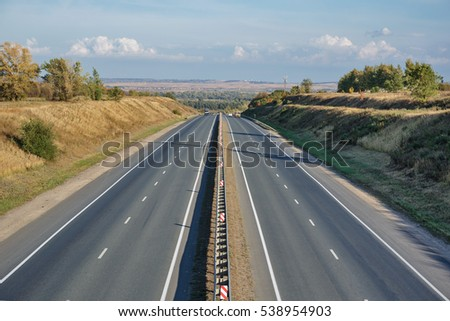 View of highway from above