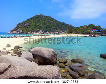 View of Koh Nangyuan in Thailand