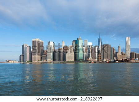 View of lower Manhattan in New York - USA