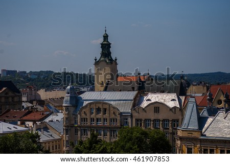 View of Lviv roofs