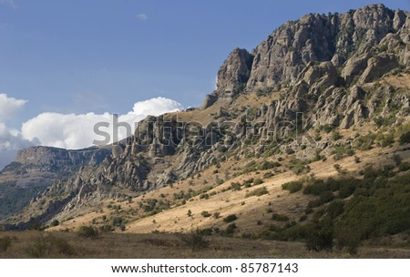 View of mount Southern Demerdji in Crimea