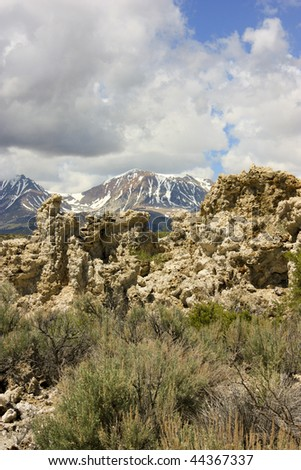 View of South Tufa at Mono Lake, California.  Photograph taken in June 2009.