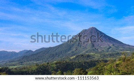View of the Arenal Volcano in the province of Alajuela in Costa Rica.