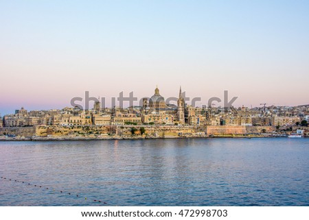 View of the capital of Malta, Valletta.